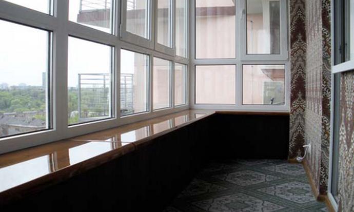 Стеклянный балкон от пола до потолка. - балконные блоки - ка.