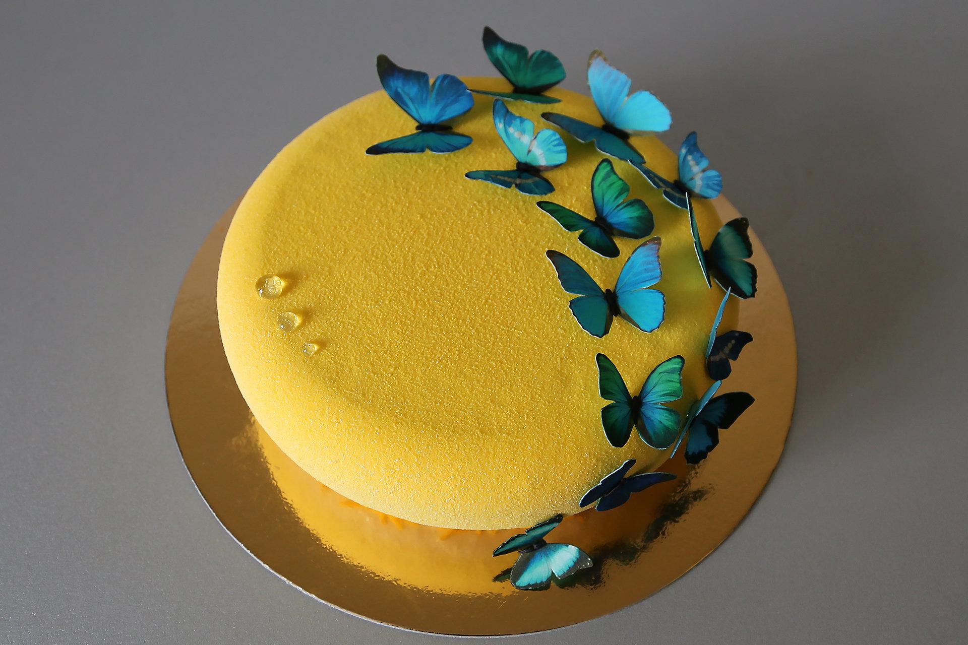 Муссовые торты с велюром