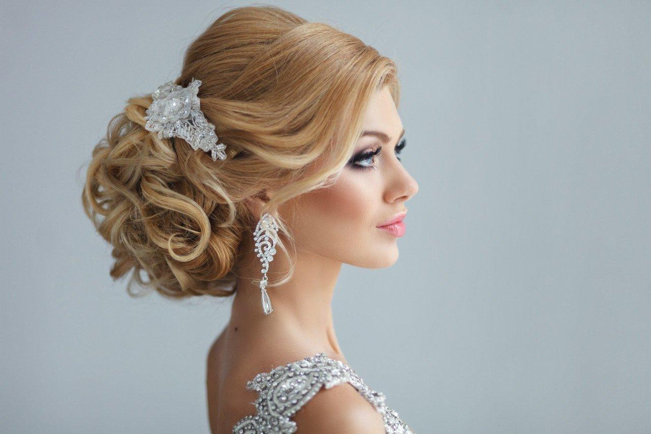 свадебная прическа невесты