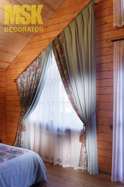 Гардины на мансардные окна фото