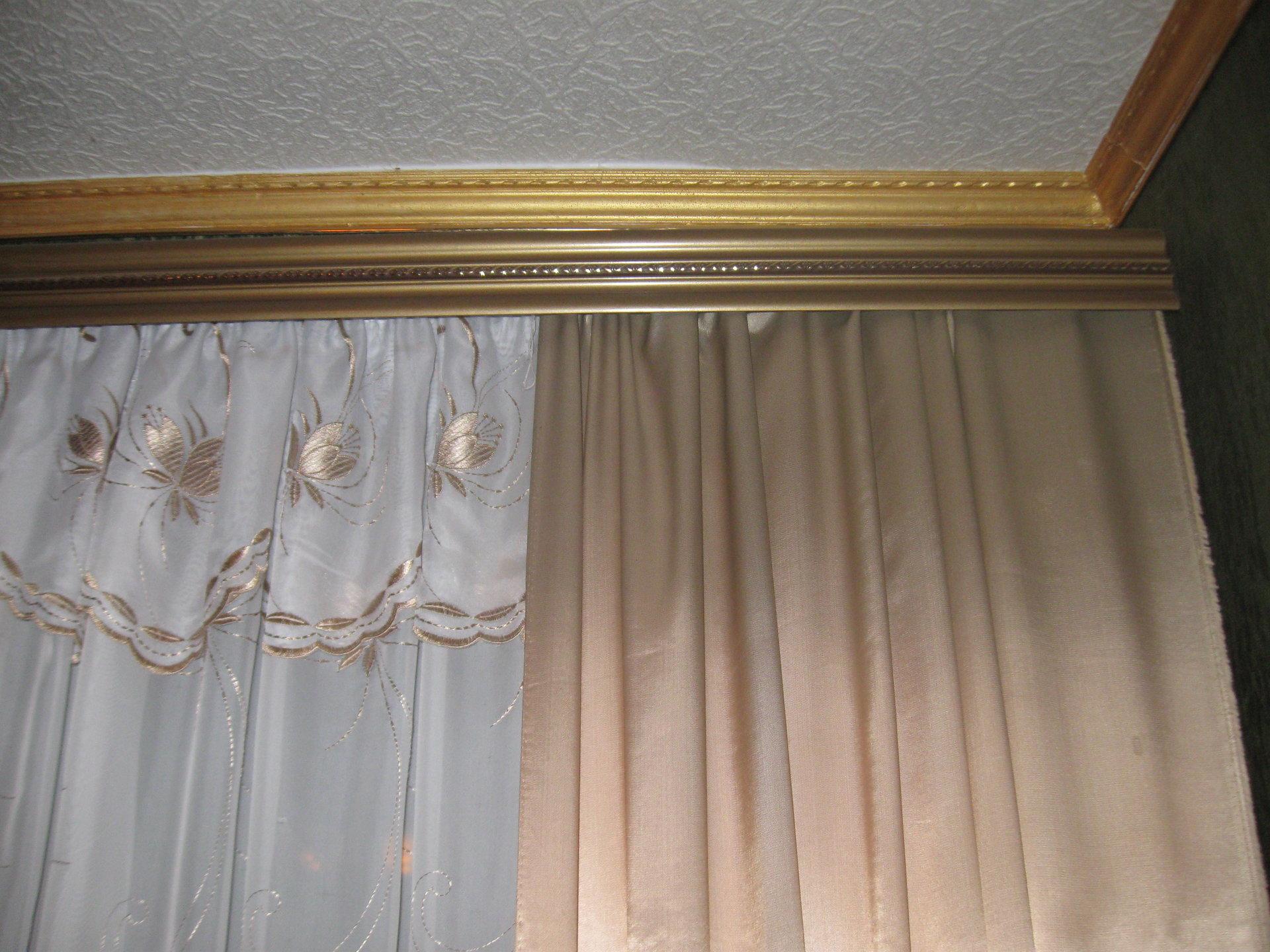 Шторы для потолочного карниза своими руками