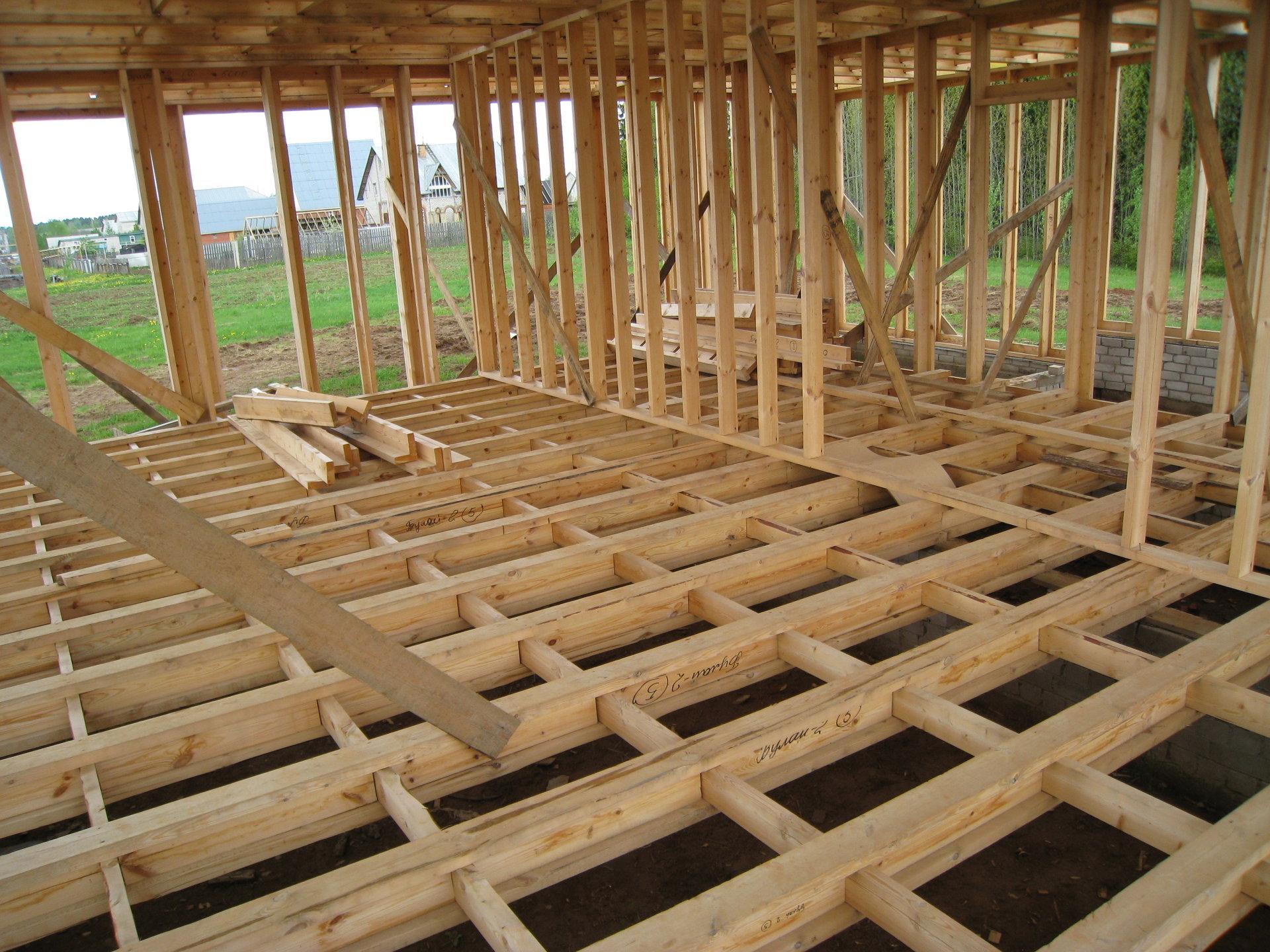 Как строят дом фото пошагово