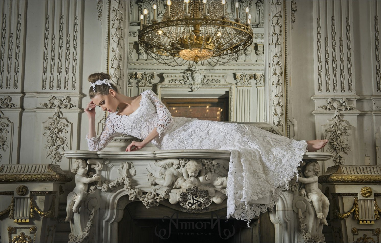 Annora Irish Lace collection: wedding dress made of handcrafted Irish Lace