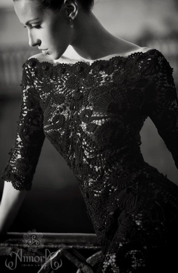 Нижнее платье с кружевом